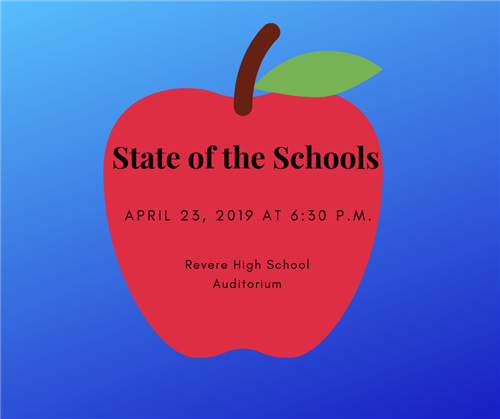 State of the Schools on April 23rd at 6 p.m.